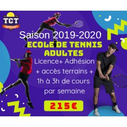 Ecole de tennis adultes 1h...